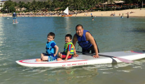 dr. steve yu surfing with kids
